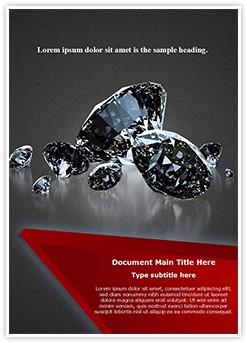 Shiny Diamonds Editable Word Template