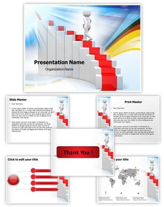 Ladder Of Success Editable PowerPoint Template