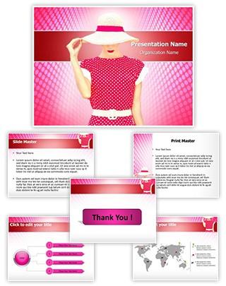 Fashion Polka Dots Editable PowerPoint Template