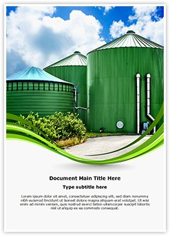 Biogas Industrial Plant Editable Word Template