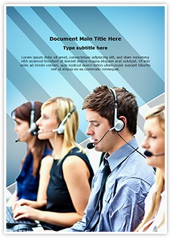 Call Center Editable Word Template
