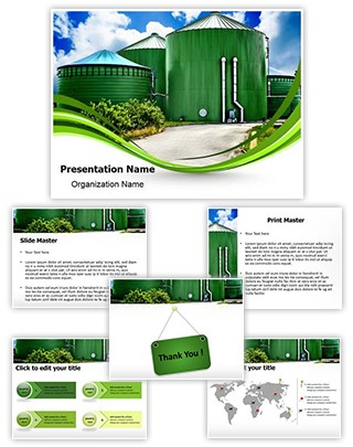 Biogas Industrial Plant Editable PowerPoint Template