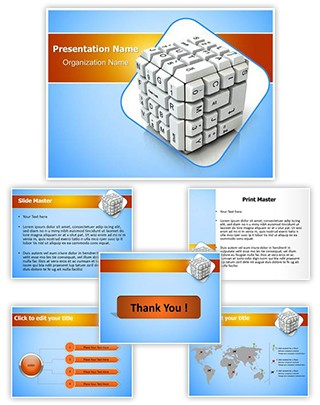 Keyboard Cube Editable PowerPoint Template