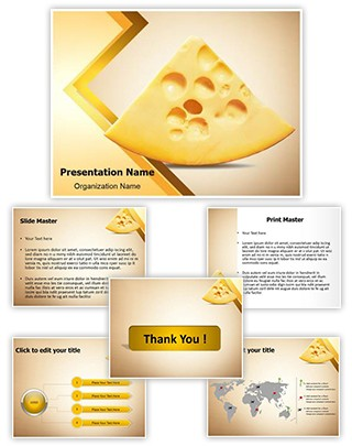 Piece of Cheese Editable PowerPoint Template