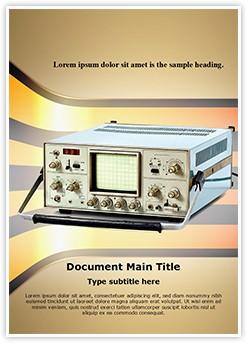 Cathode Ray Oscilloscope Editable Word Template