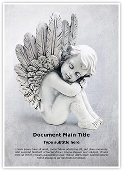 Cute Angel Editable Word Template