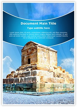 Cyrus Tomb Iran Editable Word Template