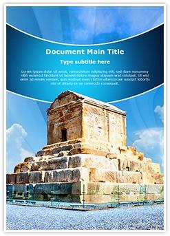 Cyrus Tomb Iran Editable Word Template