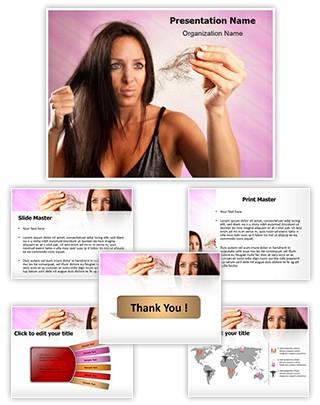 Woman Hairloss Editable PowerPoint Template