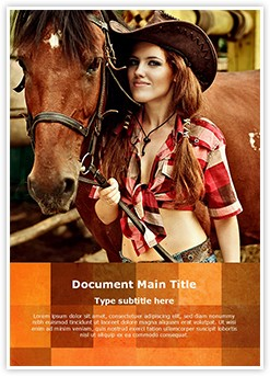 Cowgirl Editable Word Template