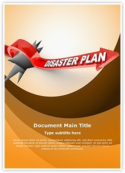Disaster Plan Editable Word Template