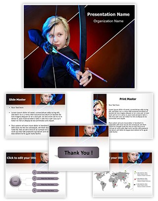Bow and Arrows Editable PowerPoint Template