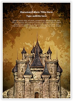 Disney Old Castle Editable Word Template