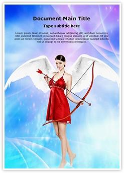 Cupid angel Editable Word Template