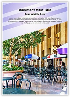 Food Court Editable Word Template