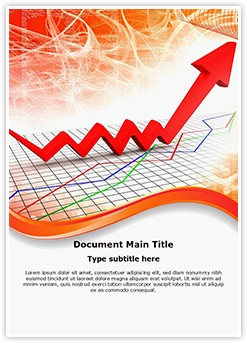Rising Finance Graph Editable Word Template