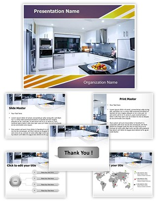 Modern Kitchen Editable PowerPoint Template