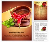 Hot Red Chili Editable Word Template