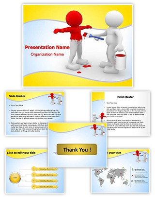 Changing Character Editable PowerPoint Template