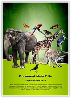 Zoology Editable Word Template