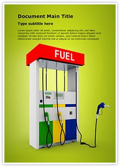 Filling Station Editable Word Template