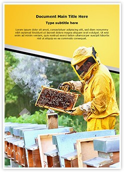 Apiculture Editable Word Template