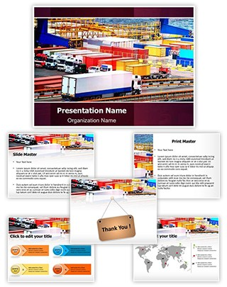 Cargo Trucking Editable PowerPoint Template