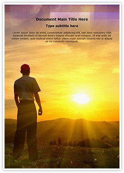 Watching Sunset Editable Word Template