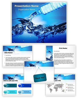 Bottled Water Editable PowerPoint Template