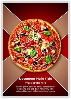 Italian Pizza Editable Word Template