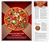 Italian Pizza Editable Word Template