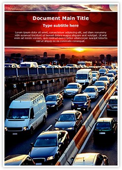 Evening Car Traffic Editable Word Template