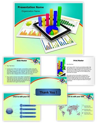 Tablet Spreadsheet Graph Editable PowerPoint Template