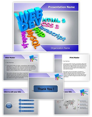Website Development Editable PowerPoint Template