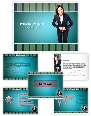 Bowing Respect Editable PowerPoint Template
