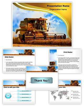 Combine Harvester Editable PowerPoint Template