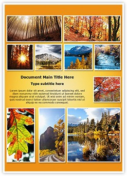 Autumn Season Collage Editable Word Template