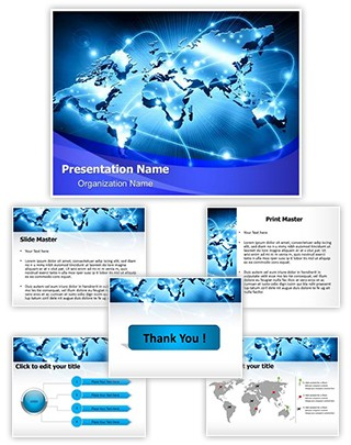Internet Abstract Editable PowerPoint Template