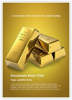 Gold Brick Editable Word Template
