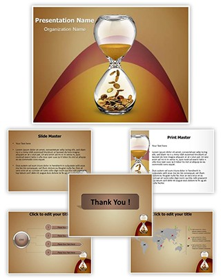 Time and Money Editable PowerPoint Template