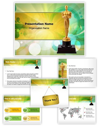 Oscar Cup Editable PowerPoint Template