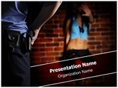 Police and Prostitute Editable PowerPoint Template