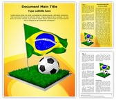 Brazil Football Worldcup Editable Word Template