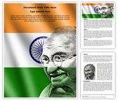 Mahatma Gandhi Editable Word Template