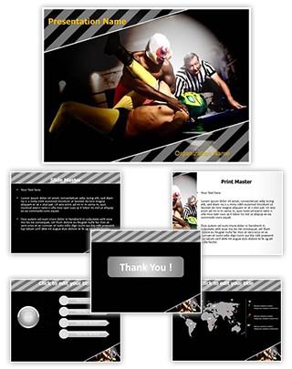 Wrestlers Referee Editable PowerPoint Template