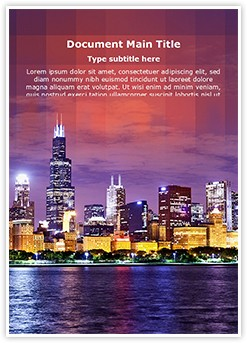 Metropolitan City Editable Word Template