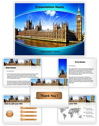 Houses of Parliament Editable PowerPoint Template