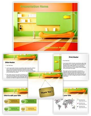 Living Room Editable PowerPoint Template