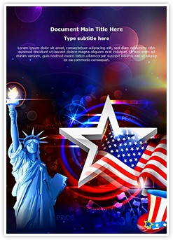 American Independence Day Editable Word Template