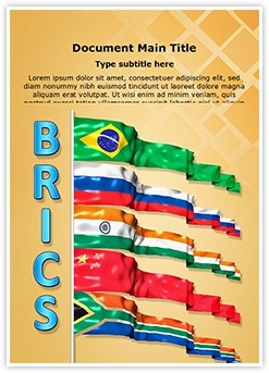 Brics Editable Word Template
